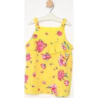 Blusa Texturizada Floral- Amarela & Rosa- Pequena Mapequena Mania