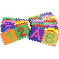 Tapete De Atividades - 30X30 Cm - Alfanumérico - 36 Placas - Mingone