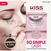 Cílios Postiços So Simple Lash 01 Kiss New York