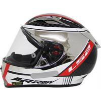 Capacete Ls2 Ff323 Indy Carbon Cromado - Unissex
