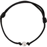 Nialaya Jewelry Pulseira Com Pingente De Vinil - Preto