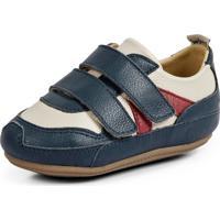 Tenis Bebe Zig - Azul Jeans / Off White / Vermelho