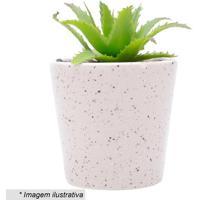 Cachepot Granilite- Rosa Claro & Marrom Escuro- 16Xã˜Urban
