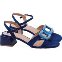 Sandalia Saltare Sophia Feminina - Feminino-Azul+Marinho