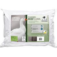 Travesseiro Ecopluma Conforto Plumas De Ganso - Fibrasca
