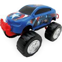 Carrinho Roda Livre - Monster Car - Avengers - Capitão América - Marvel - Toyng - Masculino