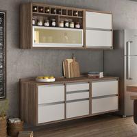 Cozinha Compacta Baronesa 5 Pt 5 Gv Branca E Marrom