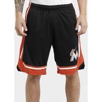 Short New Era Mlb Miami Marlins - Masculino-Preto