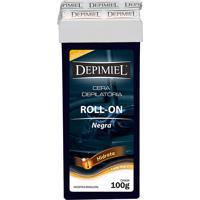 Depilador Depimiel Cera Negra Pelos Grossos Roll-On Refil 100G
