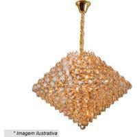 Lustre Diamond- Cristal & Dourado- 56X78X78Cm- Bhevvy