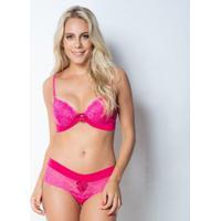 Conjunto Click Chique Com Bijuteria - Feminino-Pink