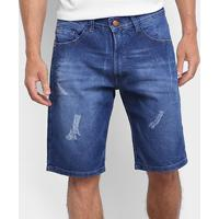 Bermuda Hd Jeans Dusty Ly Masculina - Masculino-Azul