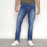 Calça Jeans Slim Triton Gilson Estonada Masculina - Masculino-Azul