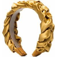 Jennifer Behr Lorelei Plait Headband - Amarelo