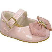 Sapato Boneca Envernizado Com Laã§O- Rosa Claro- Grifgriff