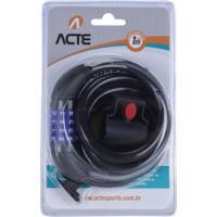Cadeado Para Bicicleta Com Segredo Acte Sports A16 - Preto