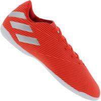 Chuteira Futsal Adidas Nemeziz 19.4 Ic - Adulto - Vermelho/Cinza Cla
