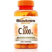 Vitamina Sundown Sun C Sundown Naturals 100 Tabletes
