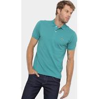 Camisa Polo Lacoste Original Fit Masculina - Masculino-Azul Petróleo