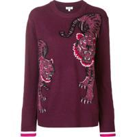 Kenzo Suéter Double Tiger - Vermelho