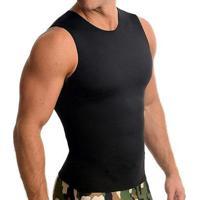 Cinta Modeladora E Postural Alta Compressão Bodyshaper Slim Fitness Masculina - Masculino-Preto