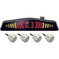 Sensor De Estacionamento Multilaser Au020 4 Pontos Visor Lcd Branco