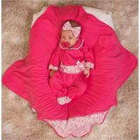 Kit Saída De Maternidade 3 Peças Floral Pink
