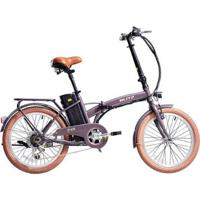 Bicicleta Blitz Elétrica Free Aro 20 Dobrável Shimano 6V Lítio 350W - Unissex