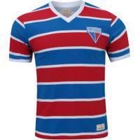 Camiseta Do Fortaleza Retrômania - Masculina - Vermelho/Azul