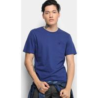 Camiseta Cavalera Básica Logo Masculina - Masculino-Azul Escuro
