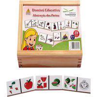 Dominó Educativo Abstração Das Partes Jogo Com 28 Peças - Fundamental