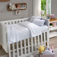 Manta Infantil Soft Baby Lisa Branco - Sbx Tãªxtil - Branco - Dafiti