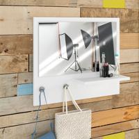 Painel Decorativo C/ Espelho Trend – Estilare - Branco