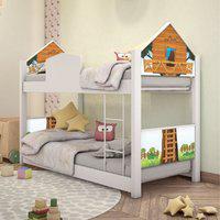 Beliche Infantil Casinha Prime Casa Na Árvore Com Colchões Casah