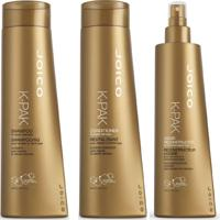 Kit Joico Shampoo K-Pak To Repair Damage 300Ml+Condicionador 300Ml+Leave In Reconstrutor 300Ml