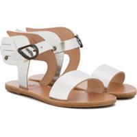 Ancient Greek Sandals Kids Sandália 'Ikaria' De Couro - Metálico