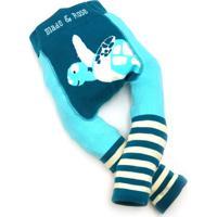 Meia Calça Legging Tartaruga Marinha Wwf Blade And Rose Azul