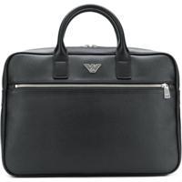Emporio Armani Case Para Notebook Com Logo - Preto