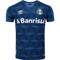 Camisa Do Grêmio Iii 2019 Umbro - Masculina - Azul Esc/Branco
