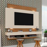 Painel Para Tv 65 Polegadas Forseti Off-White E Freijo 181 Cm