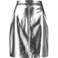 Philosophy Di Lorenzo Serafini Fitted Mini Skirt - Prateado