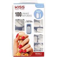 Unhas Postiças Kiss Ny 100 Unhas Naturais Quadrado Médio 1 Un - Feminino