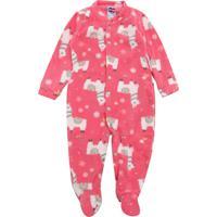 Pijama Tip Top Longo Menina Lhama Rosa