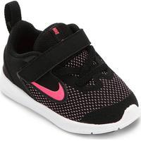 Tênis Infantil Nike Downshifter 9 Velcro Tdv - Unissex-Preto+Rosa