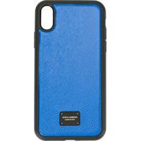 Dolce & Gabbana Capa Para Iphone X Com Placa De Logo - Azul