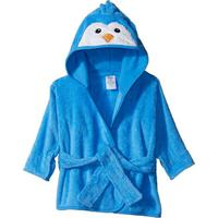 Roupão Hudson Baby Para Bebê Com Capuz Cotton Pinguim Azul