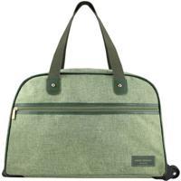 Bolsa De Viagem Com Rodinhas- Verde- 31X55X26Cm-Jacki Design