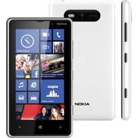 "Smartphone Nokia Lumia 820 - 3G - 8Gb - 8Mp - Tela 4.3"" - Windows Phone 8 - Branco"
