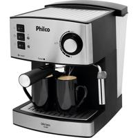 Cafeteira Coffee Express Reservatório De Água 1.6L 850W Preto/Inox Philco 110V
