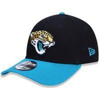 Boné New Era 9Forty Jacksonville Jaguars Aba Curva Preto